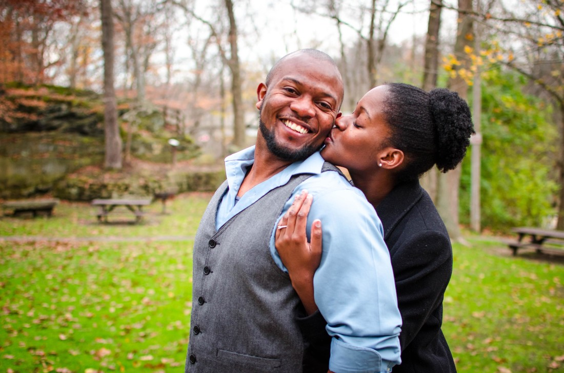 engagement photos at river park in olmsted falls cleveland ohio