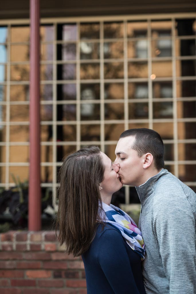 downtown cleveland fall engagement session