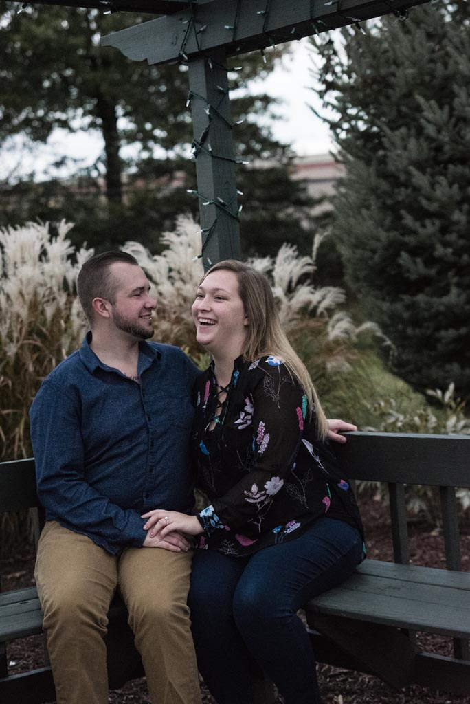 outdoor surprise engagement session in cleveland
