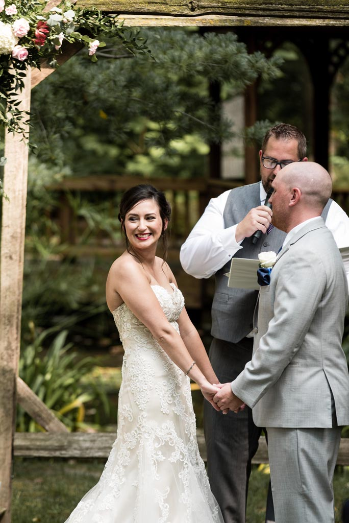 toledo ohio botanical garden summer wedding